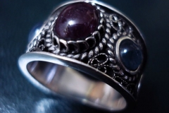 Sterling Silver Filigree Rings / RI 00014